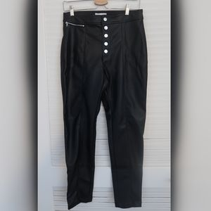 High waisted Faux leather pants Black size 8